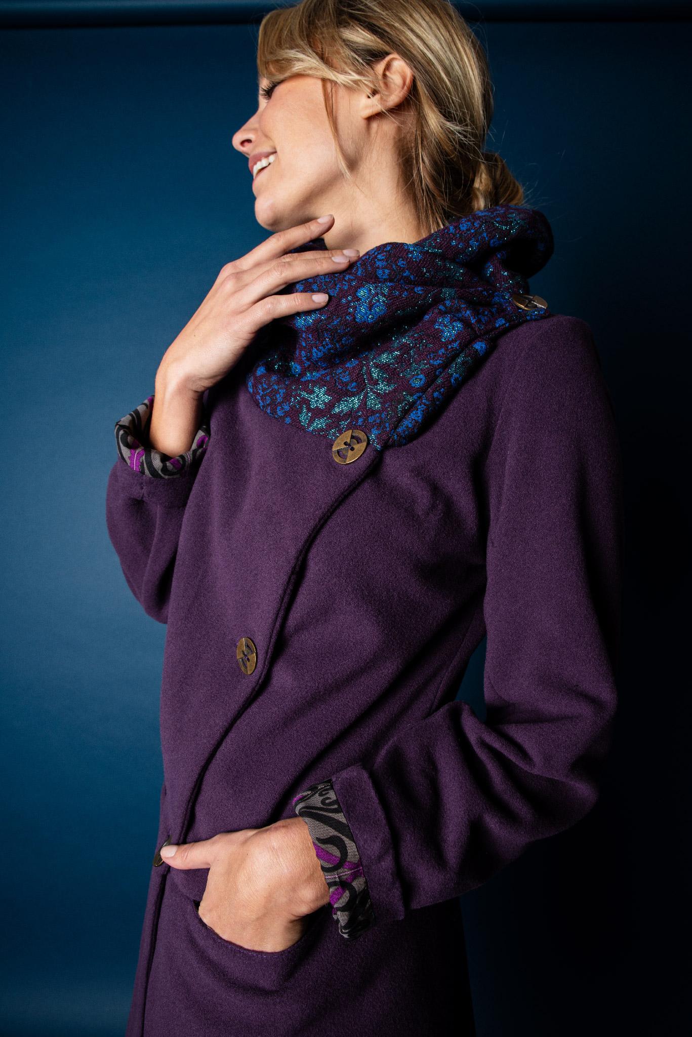 Manteau Jérome violet