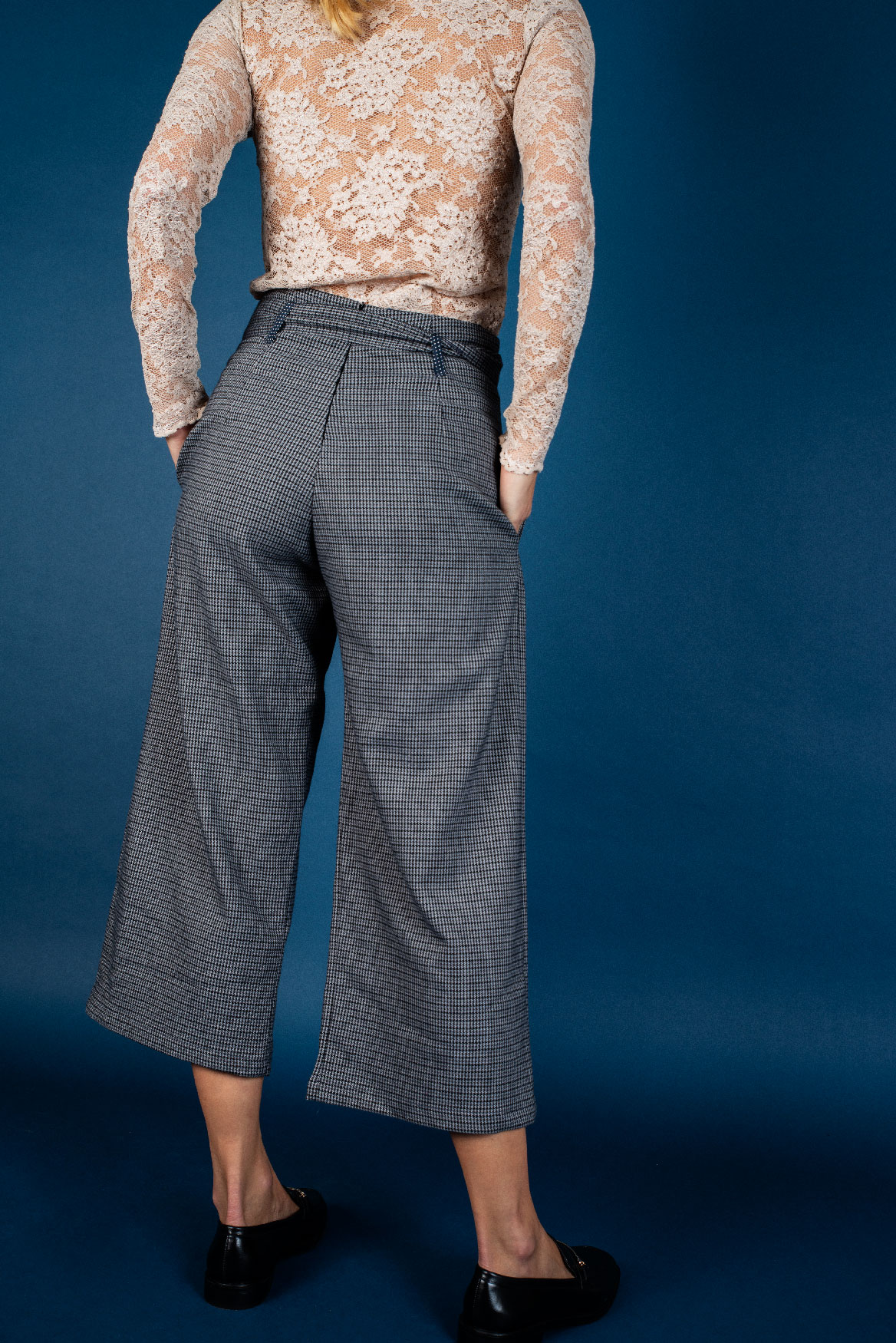 Pantalon Eva pied de poule gris