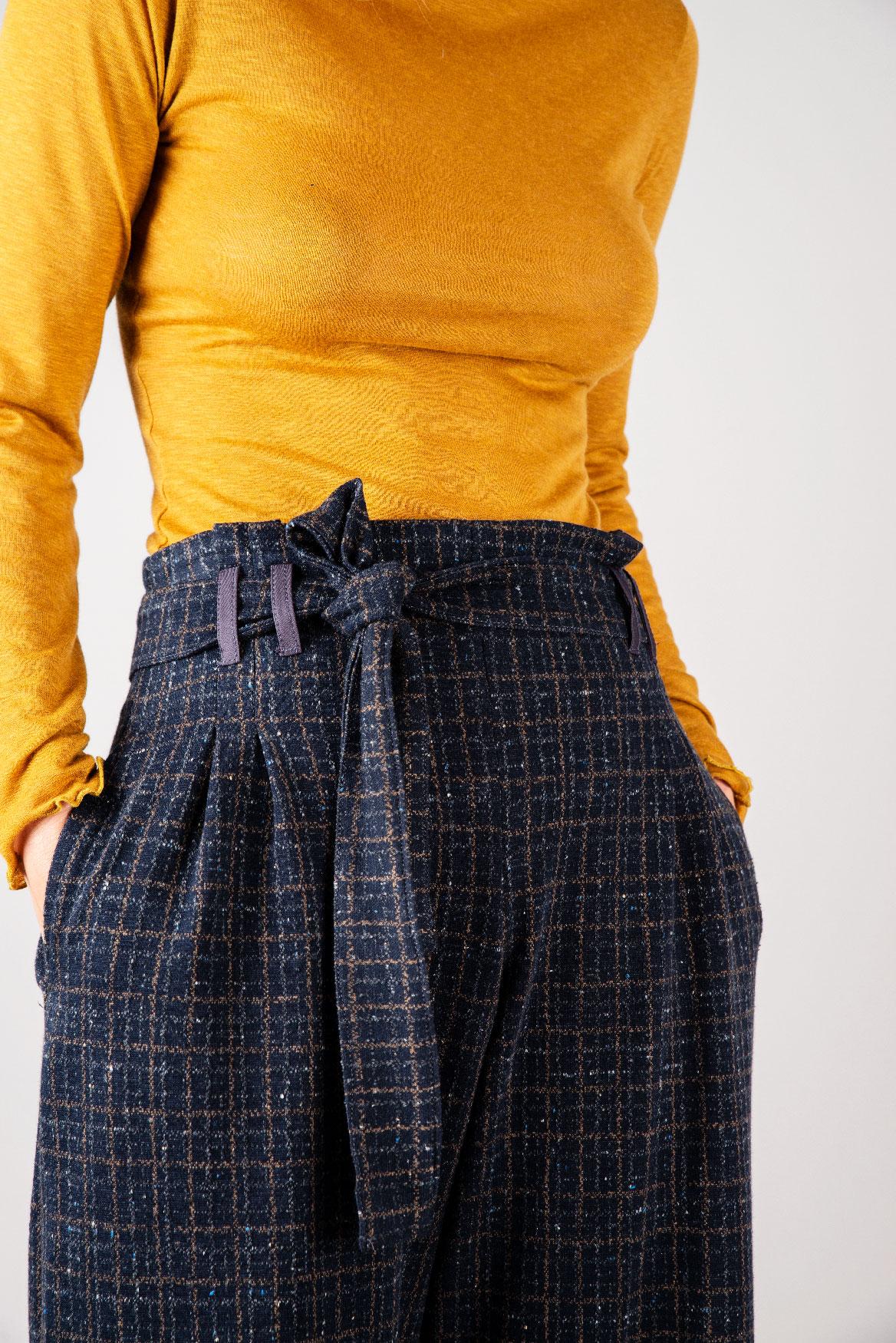 Pantalon Eva violet à carreaux