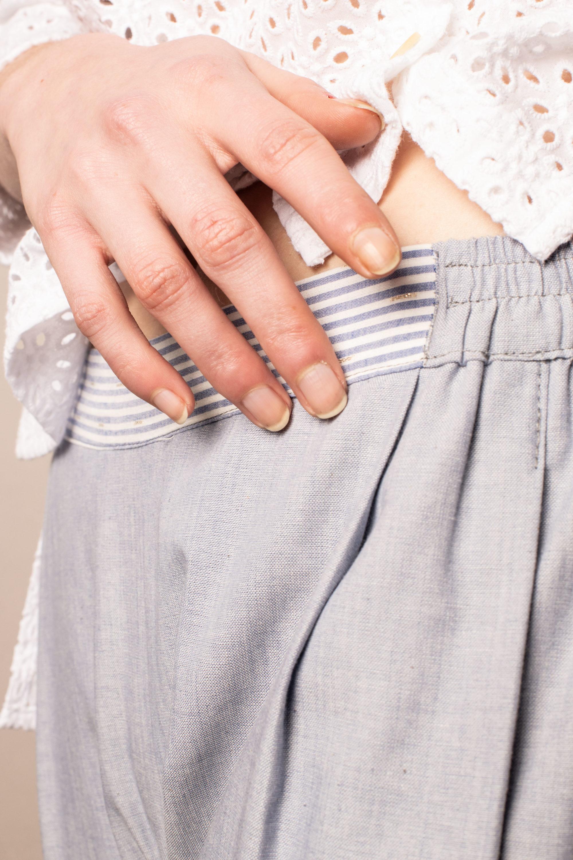 Pantalon Elastique Bleu Ciel